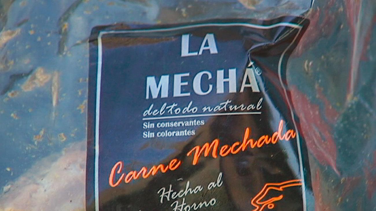 Envase de carne mechada de la marca La Mechá, origen de un brote de listeriosis