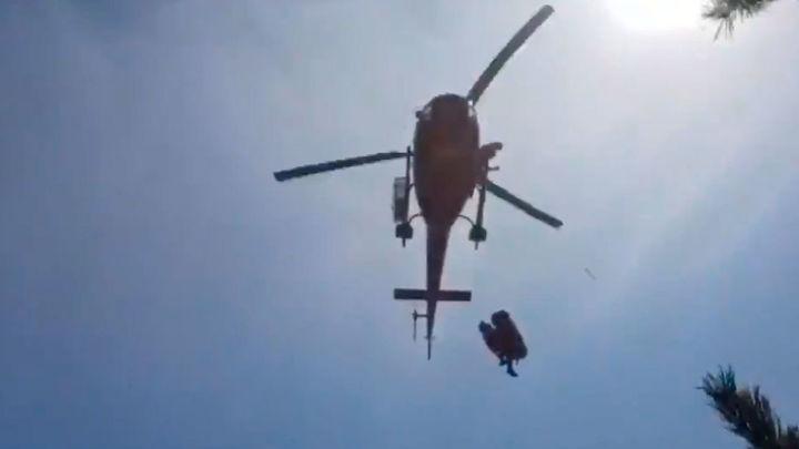 Rescatan a un anciano que se había dado un golpe en la cabeza cuando hacía senderismo en Cercedilla