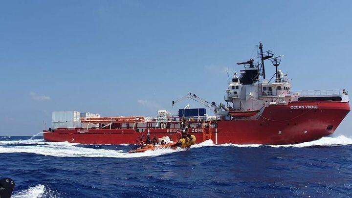 El 'Ocean Viking' alerta de que solo  tiene comida para cinco días más