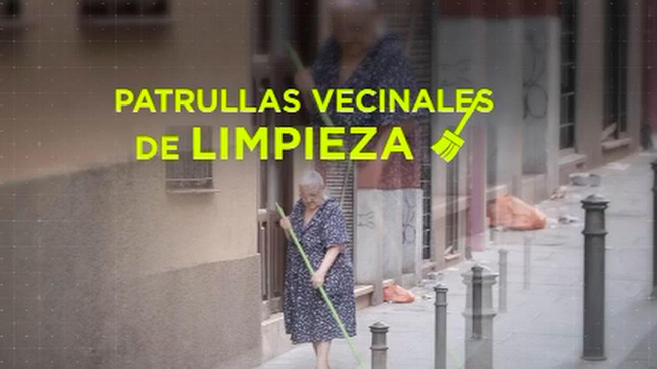 Patrullas vecinales limpian Lavapiés