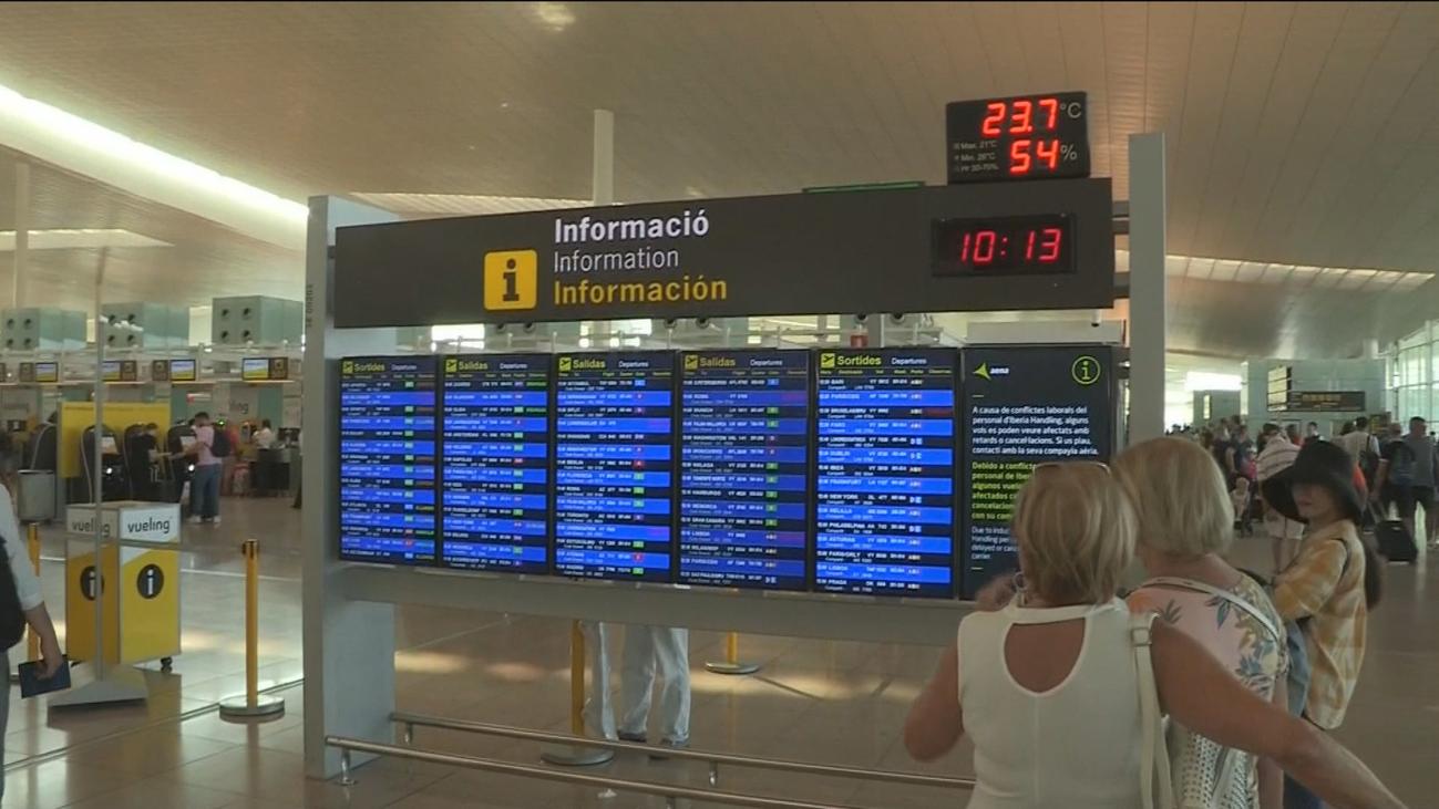 Cientos de cancelaciones preventivas de vuelos en la huelga  de El Prat