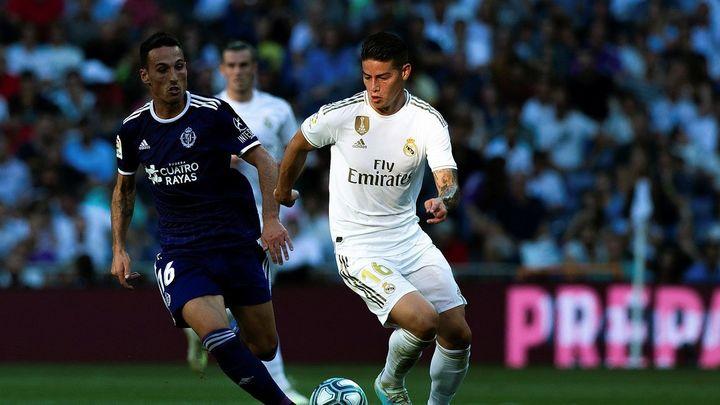 James Rodríguez contra el Valladolid