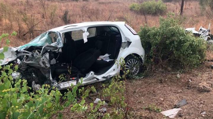 Dos hombres heridos, uno de ellos grave,  en una colisión  frontal en San Martín de Valdeiglesias