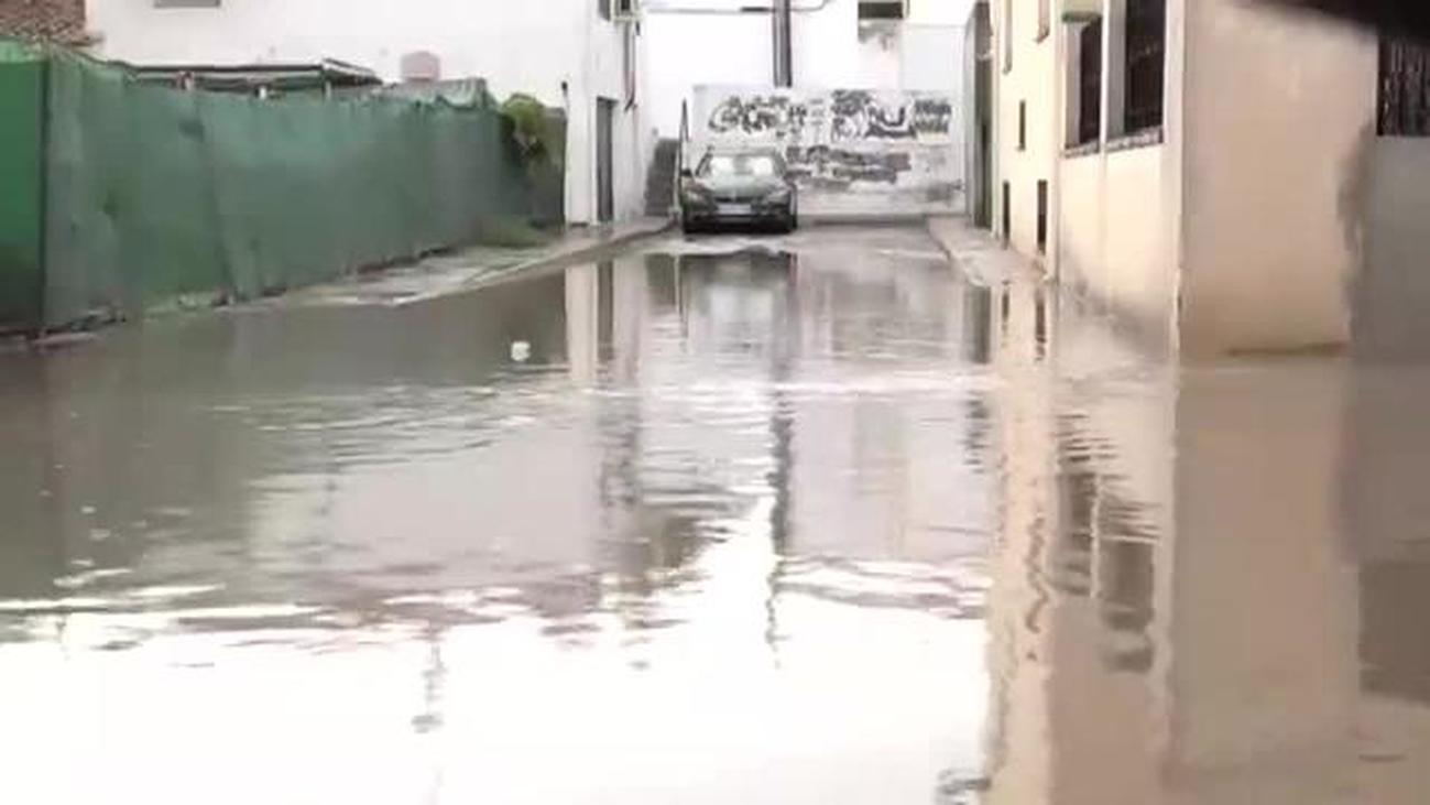 Fuertes lluvias en Torrejón de Velasco