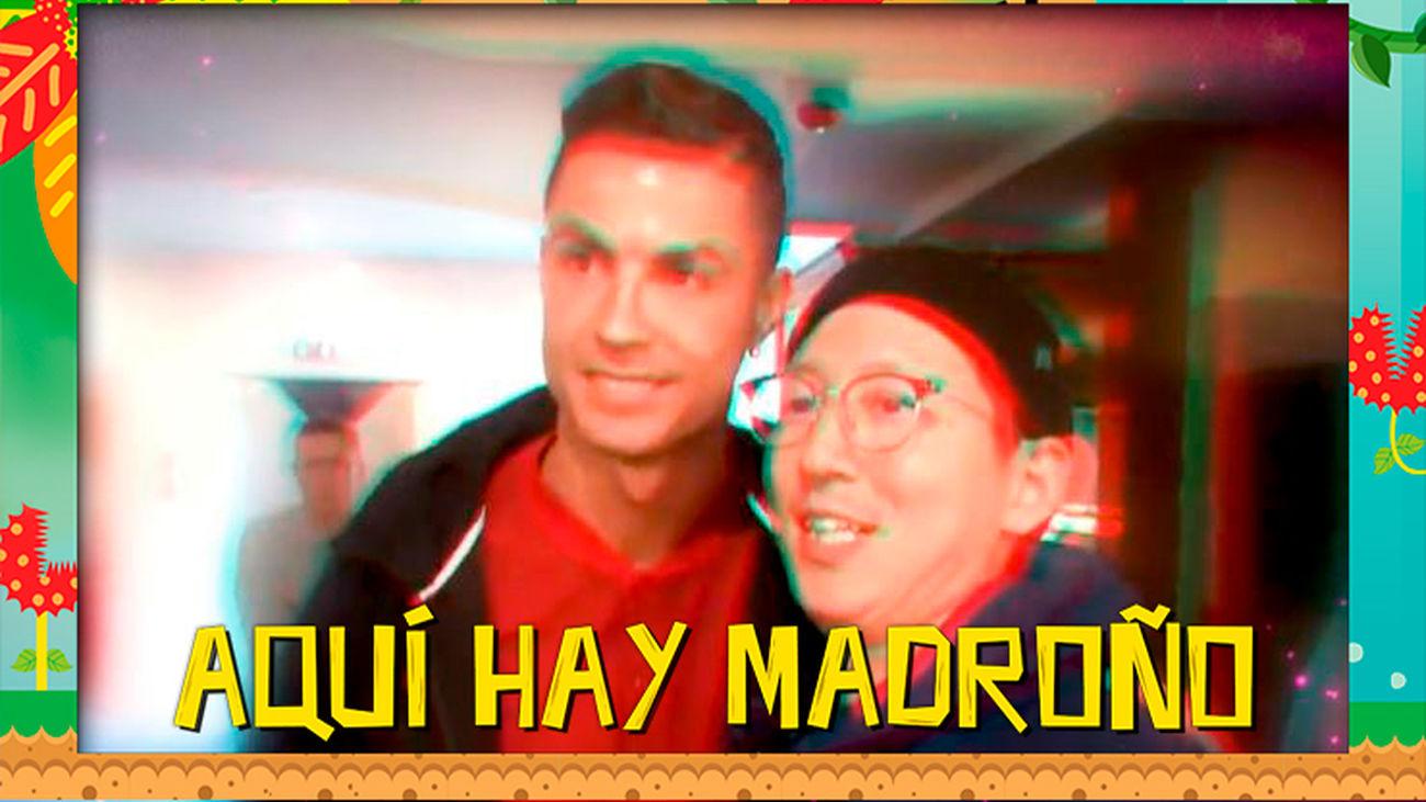 Cristiano Ronaldo, perseguido por un fan