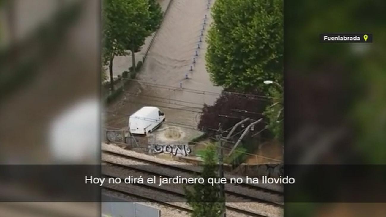 Los vídeos más impactantes de la brutal tormenta caída en Madrid