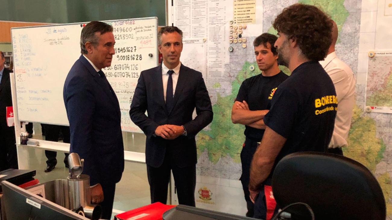 Enrique López ensalza la labor de los servicios de seguridad y emergencias de Madrid