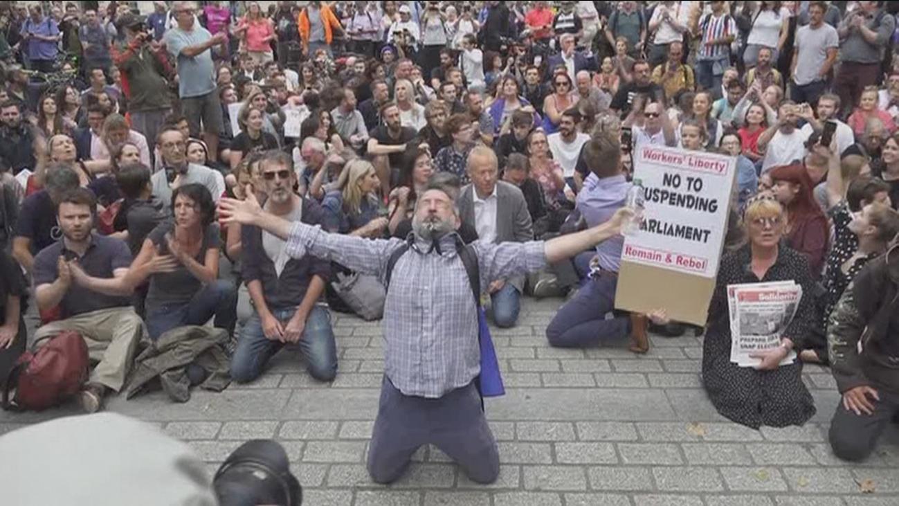 """""""Detener el golpe"""" piden los manifestantes en las calles de Londres"""