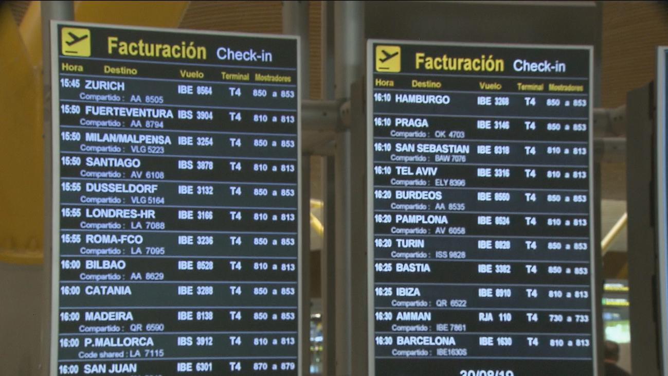 200 vuelos cancelados por huelga del personal de tierra en Madrid y Barcelona