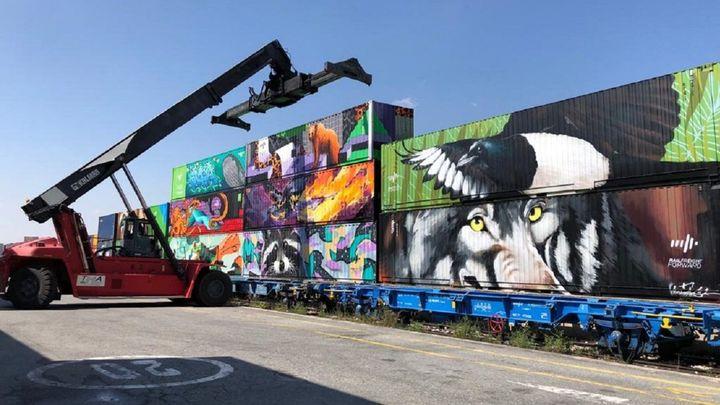 Llega a Madrid el 'Tren de Noé' para promocionar el transportes de mercancías ferroviario