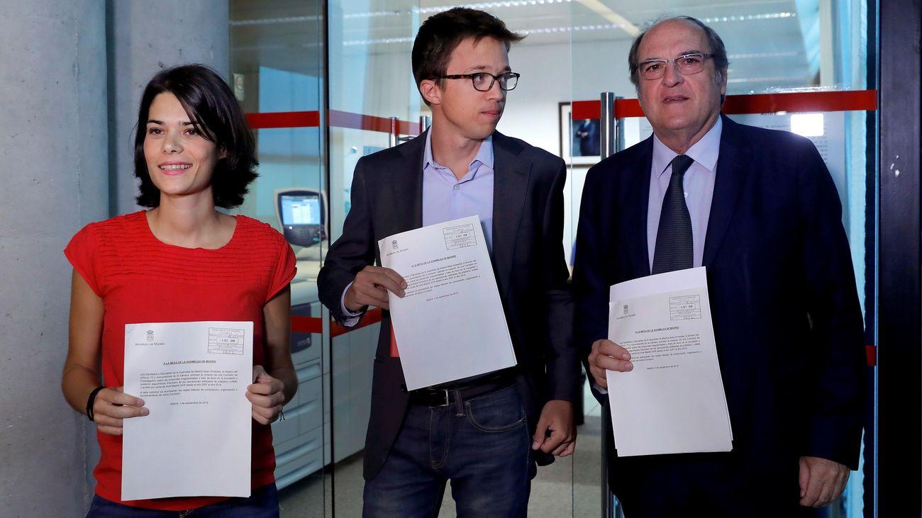 PSOE, Más Madrid y Podemos registran la petición en la Asamblea de Madrid