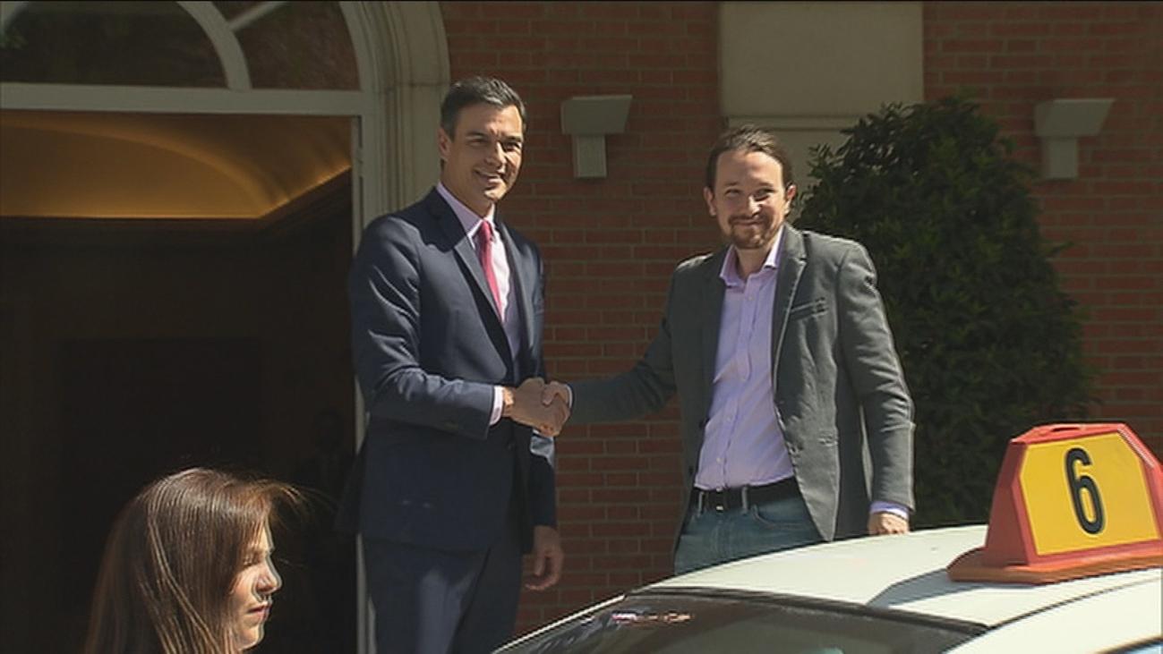 """Pedro Sánchez presenta casi 400 medidas e Iglesias pide que no haya """"humillaciones"""""""