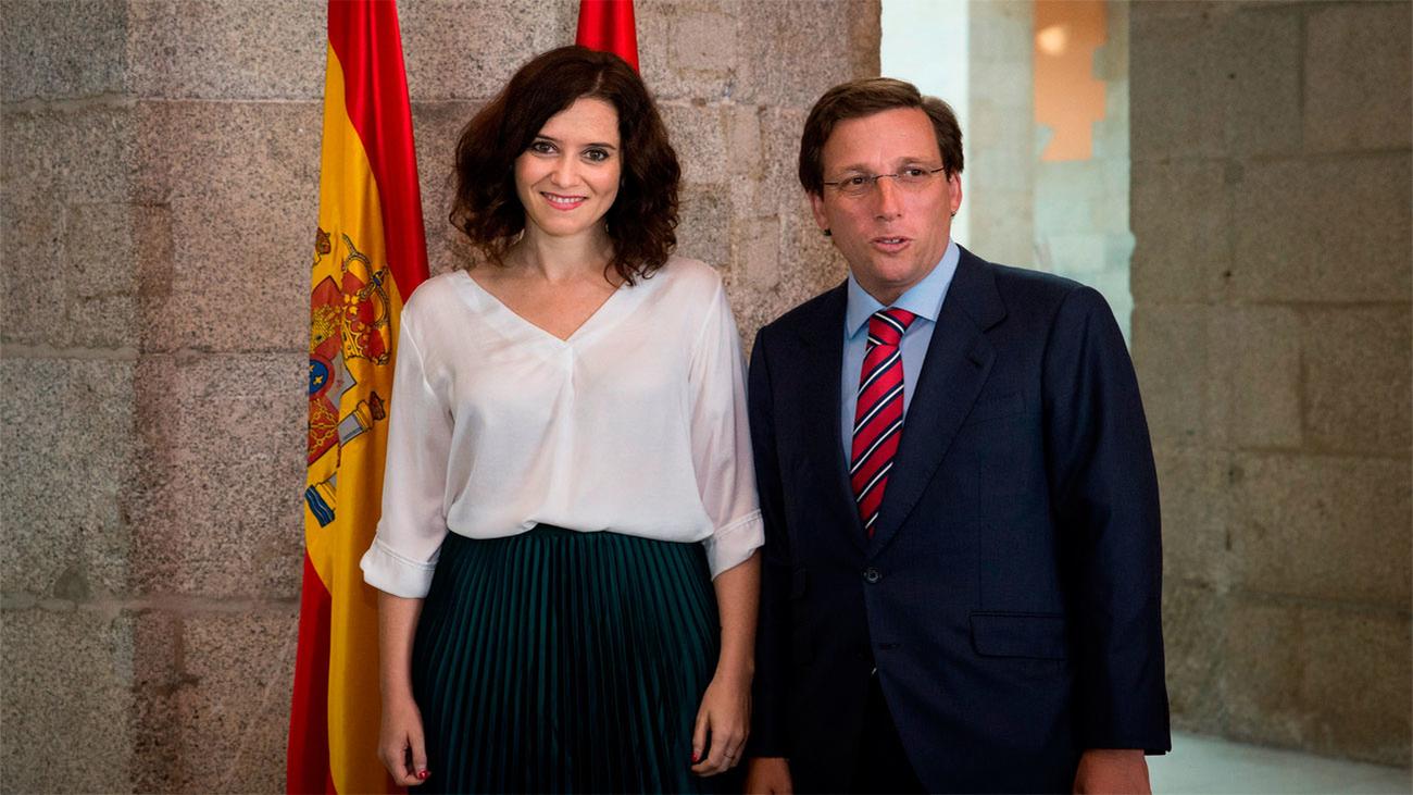 Ayuso y Almeida prometen cooperación entre Comunidad y Ayuntamiento