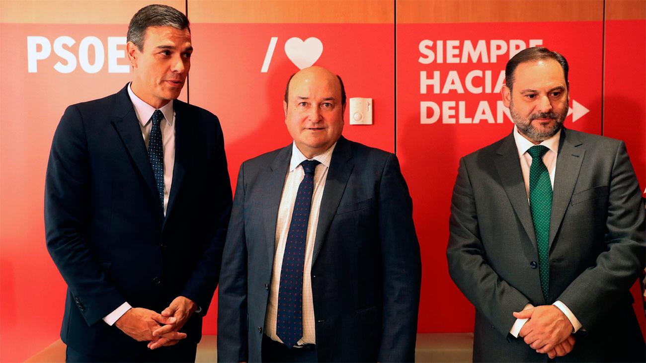 El PNV valora votar 'sí' con un PSOE más respetuoso con el autogobierno