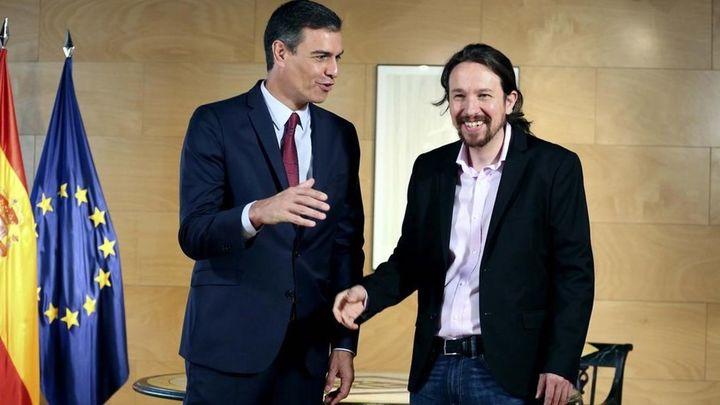Así está el ambiente antes de comenzar la reunión de PSOE y Podemos