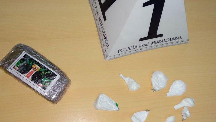 Detenido en Moralzarzal un individuo que portaba hachís y cocaína