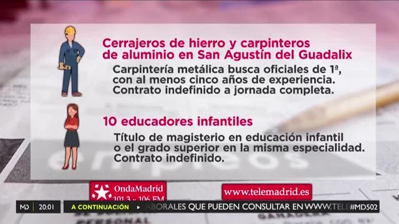Oferta laboral para diez educadores infantiles para Madrid