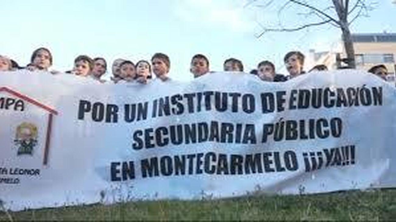 Alumnos piden la construcción del instituto en Montecarmelo