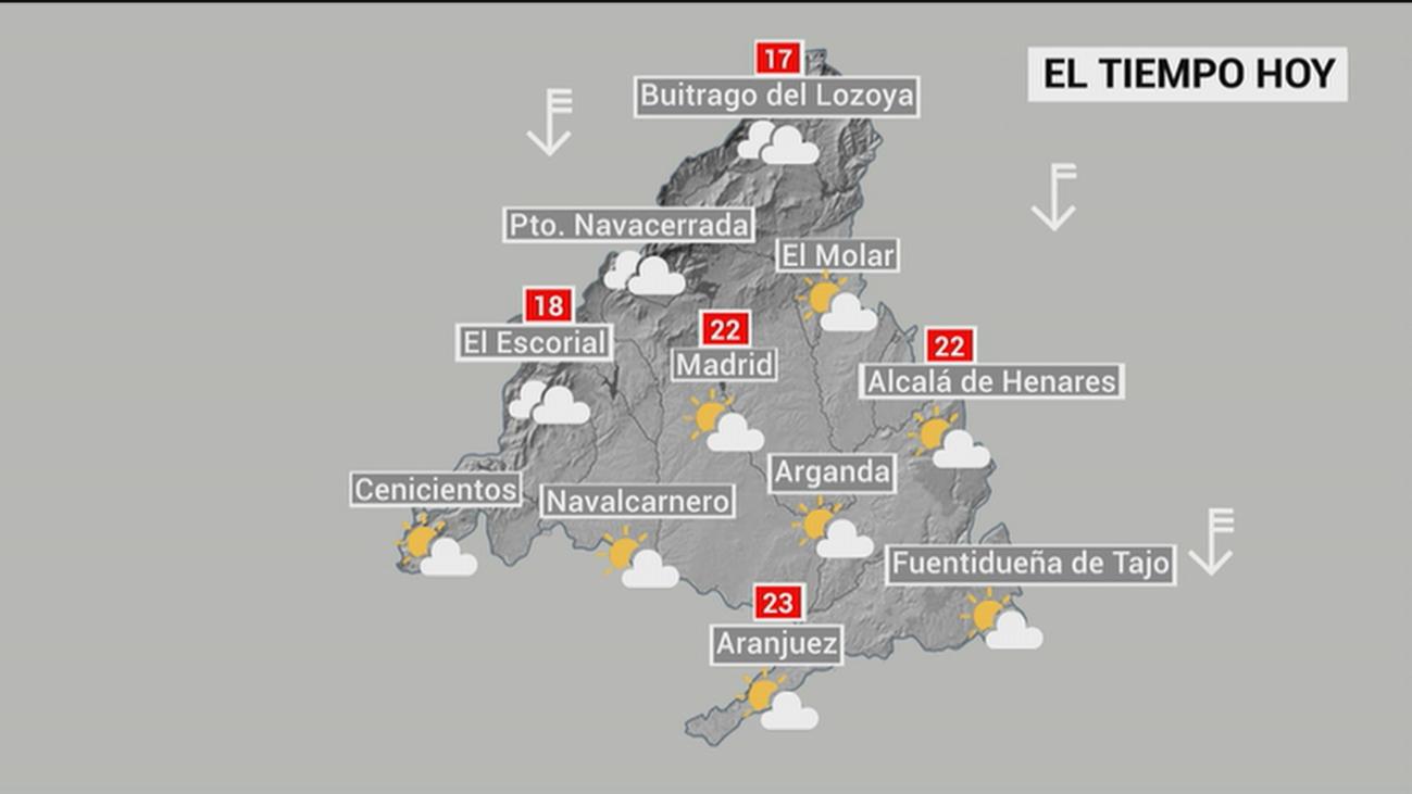Bajada brusca de las temperaturas en Madrid y aviso amarillo por el viento en la sierra