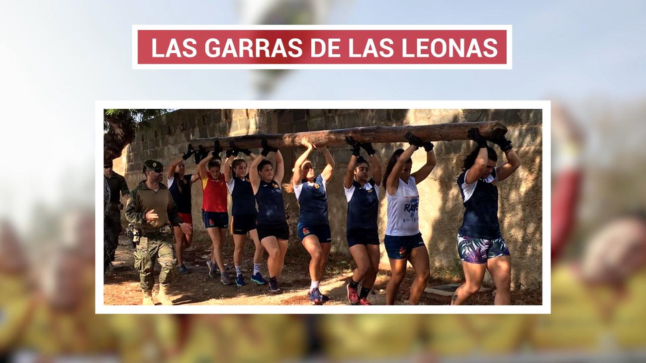 Las 'Leonas' de rugby se entrenan con boinas verdes
