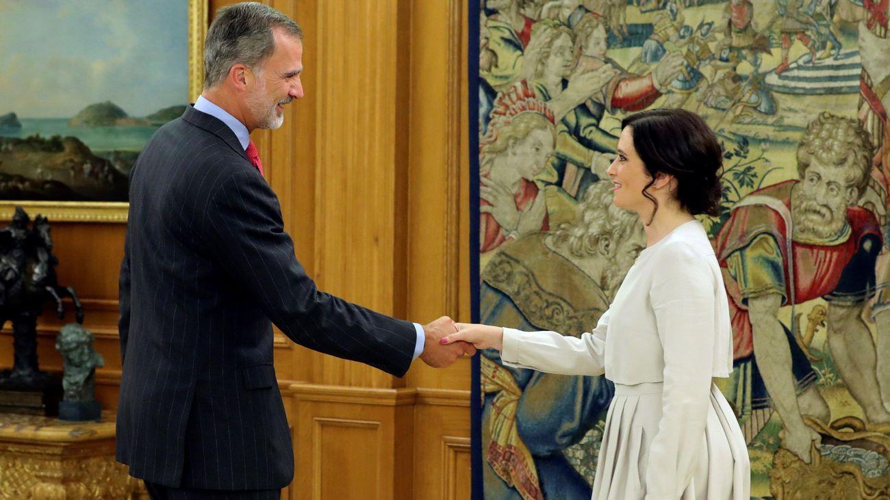 El rey Felipe VI recibe a Isabel Díaz Ayuso