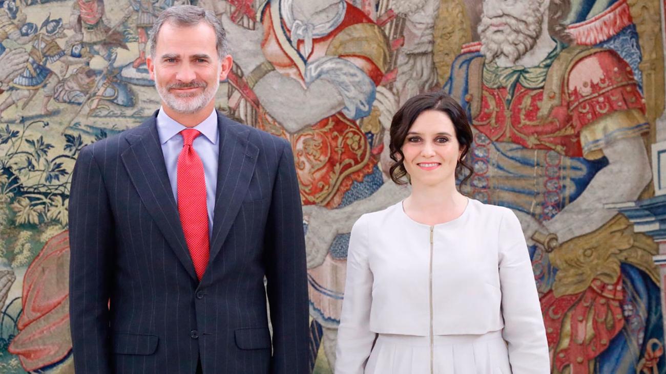 El Rey recibe en Zarzuela a Díaz Ayuso