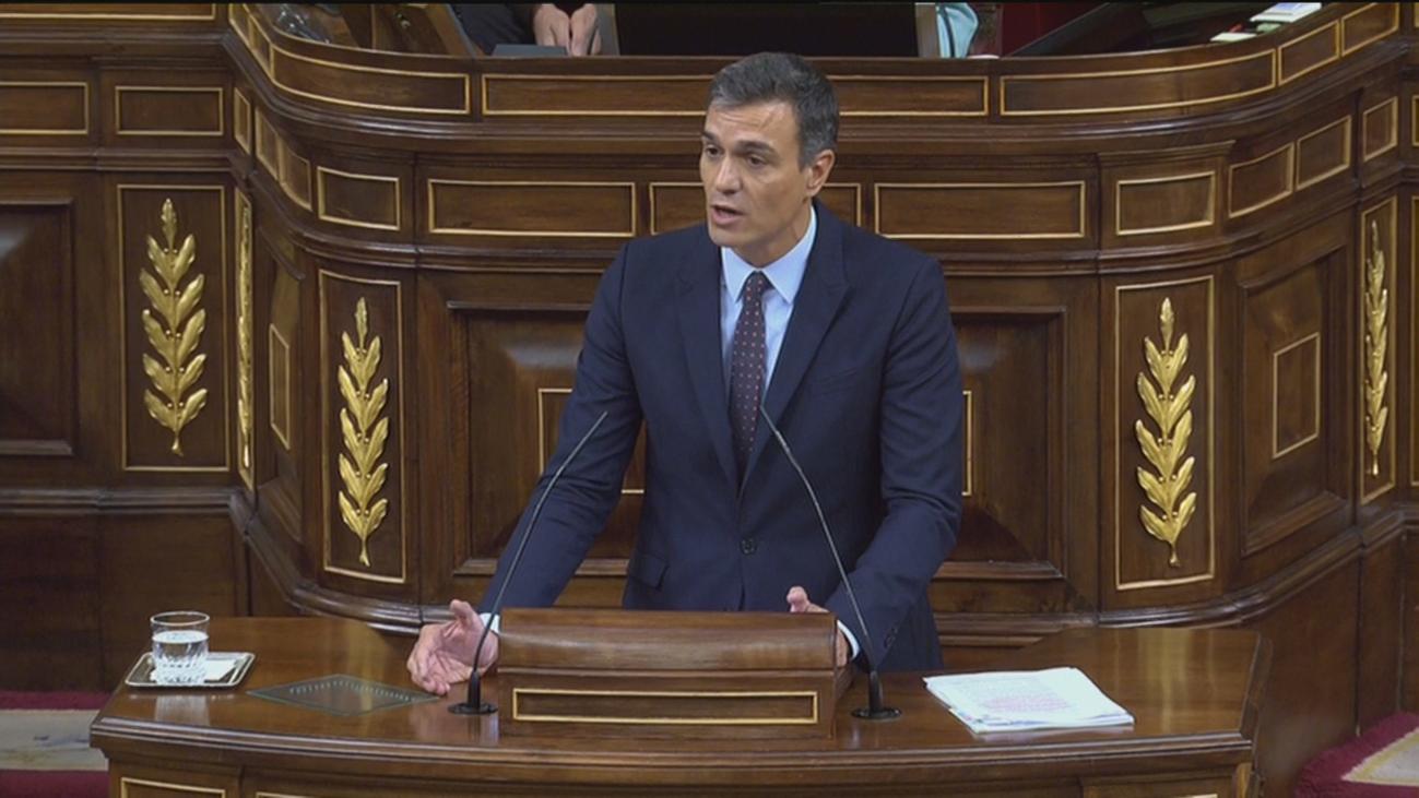 """Pedro Sánchez comparece en el Congreso y dice que """"no quiere elecciones"""""""