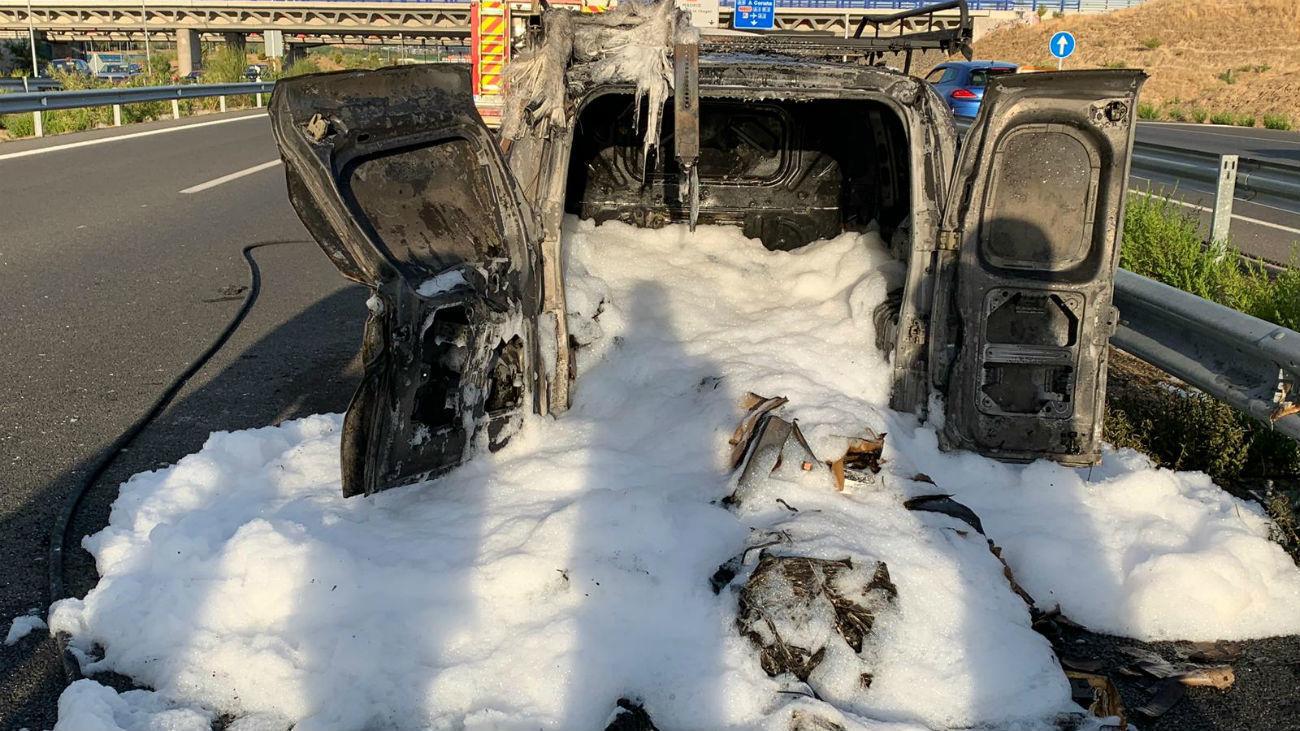 Restos de la furgoneta