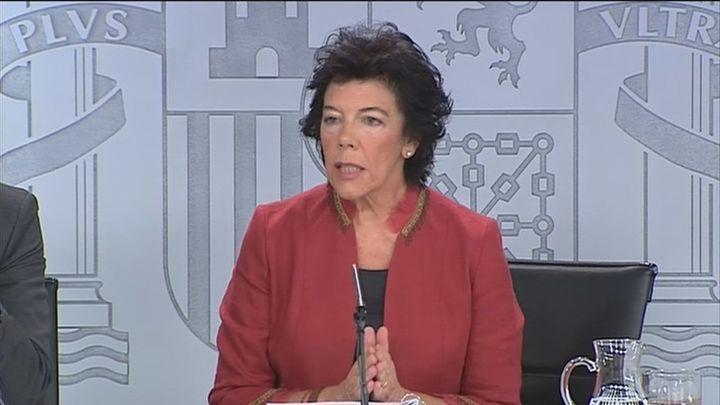 Isabel Celaa, ministra de Educación y portavoz del Gobierno