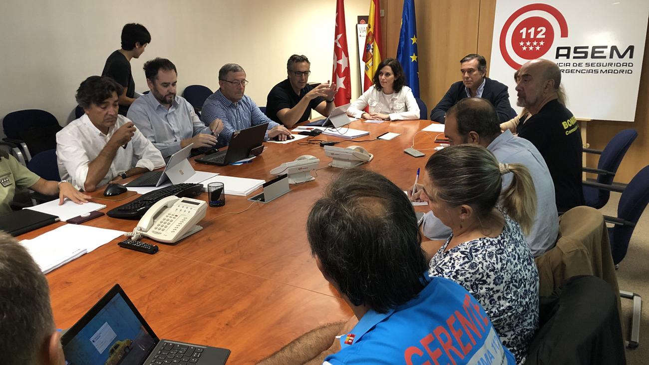 """Díaz Ayuso celebra que no haya habido """"daños  personales"""" por el paso de la DANA"""