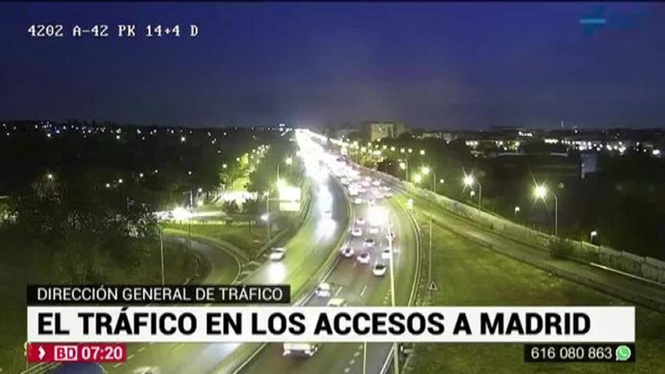 Un accidente en la A-4 a la altura de Pinto genera 8 kilómetros de retención