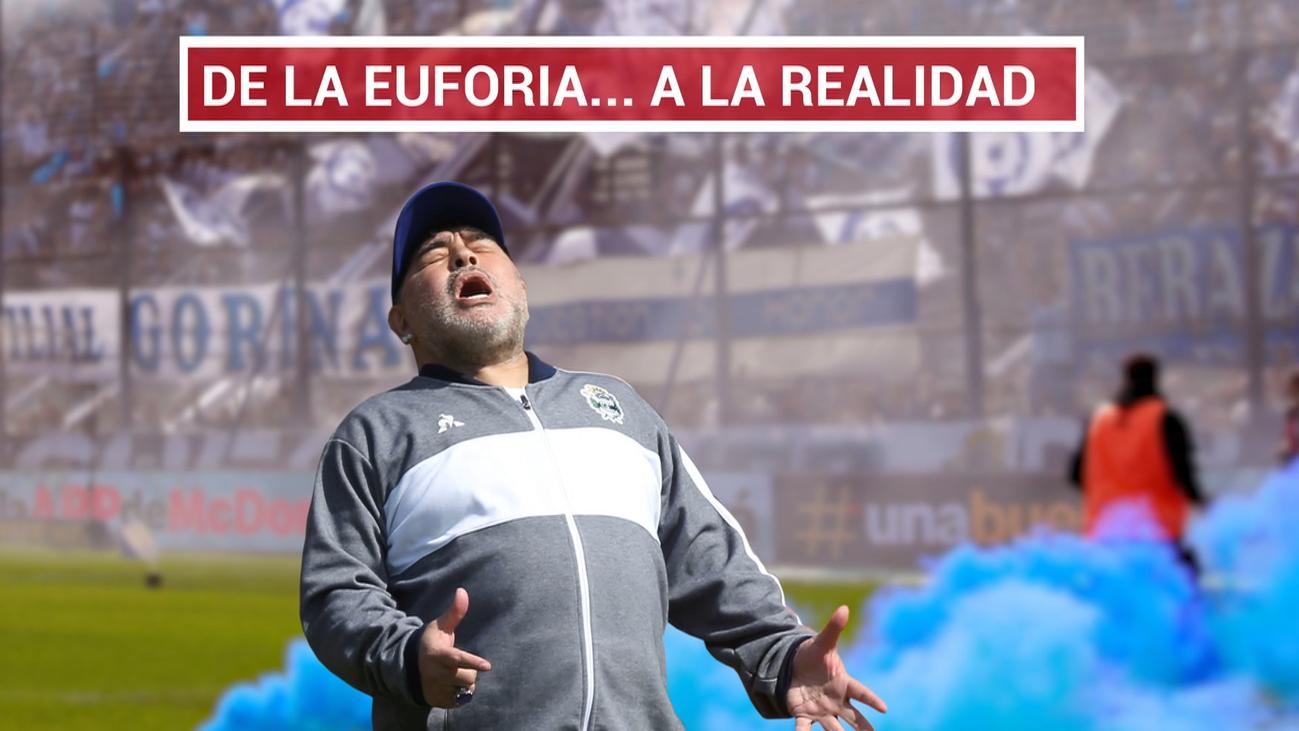 Maradona debuta con derrota en Gimnasia y Esgrima