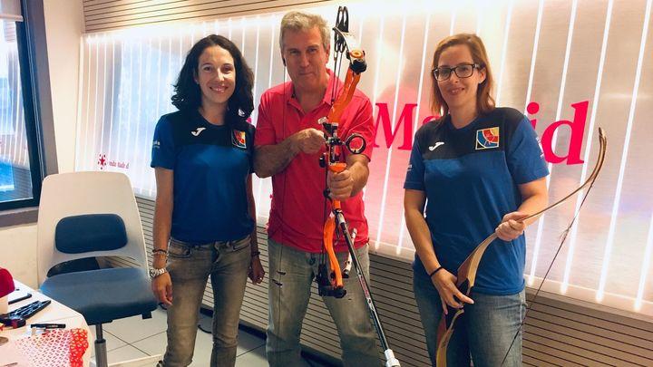 Club Arqueros de Leganés con María Parra y Miriam Bravo