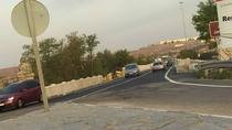 La circulación en el Puente Largo de Aranjuez se reduce a un único carril