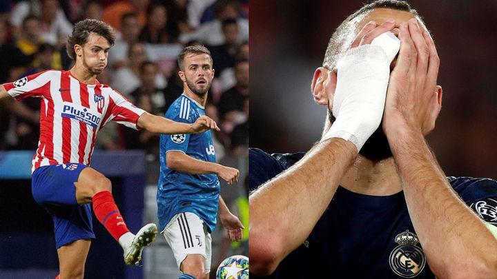 El Atlético empata con el Juventus (2-2) y el Real Madrid, goleado en París (3-0)