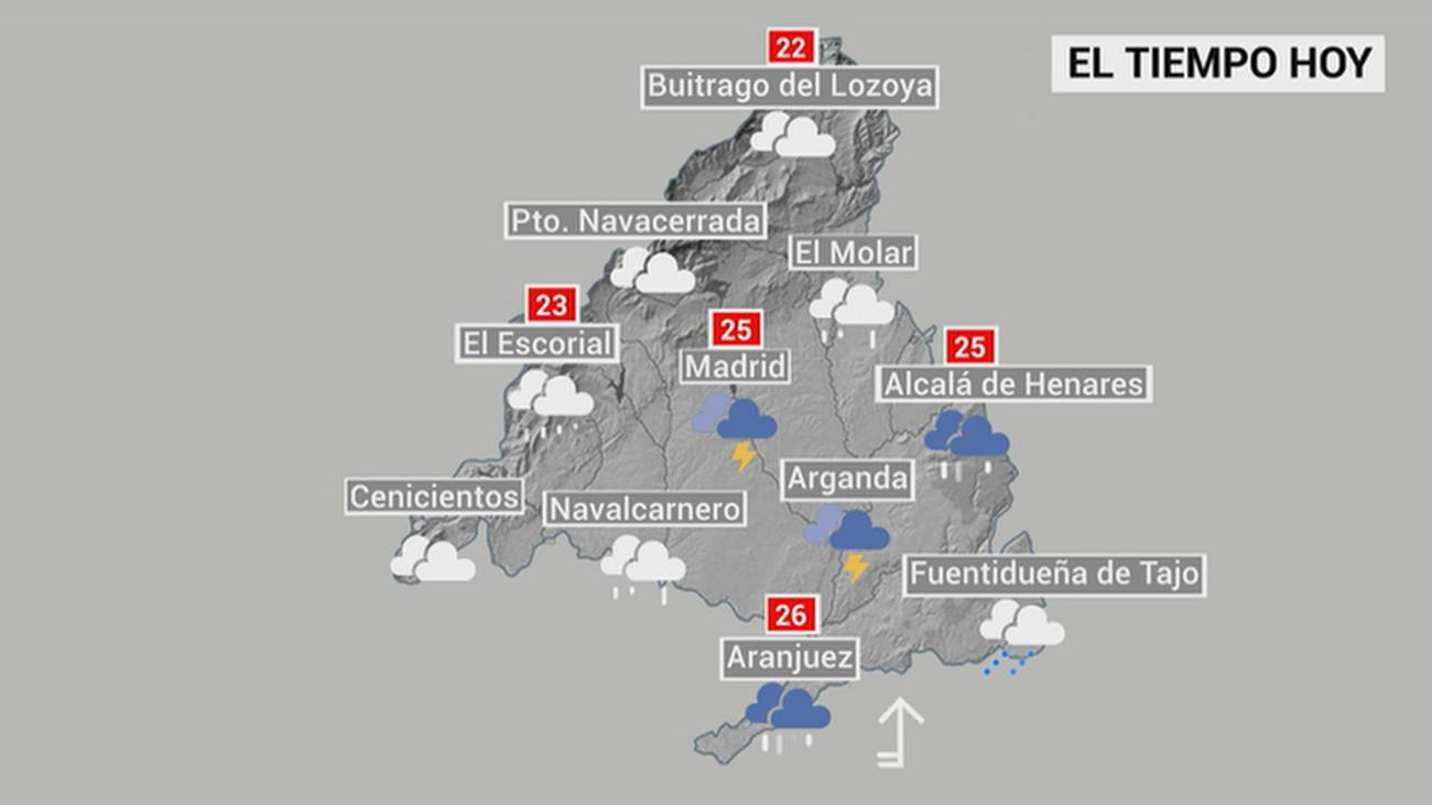 Madrid, pendiente de las tormentas de este viernes por la tarde