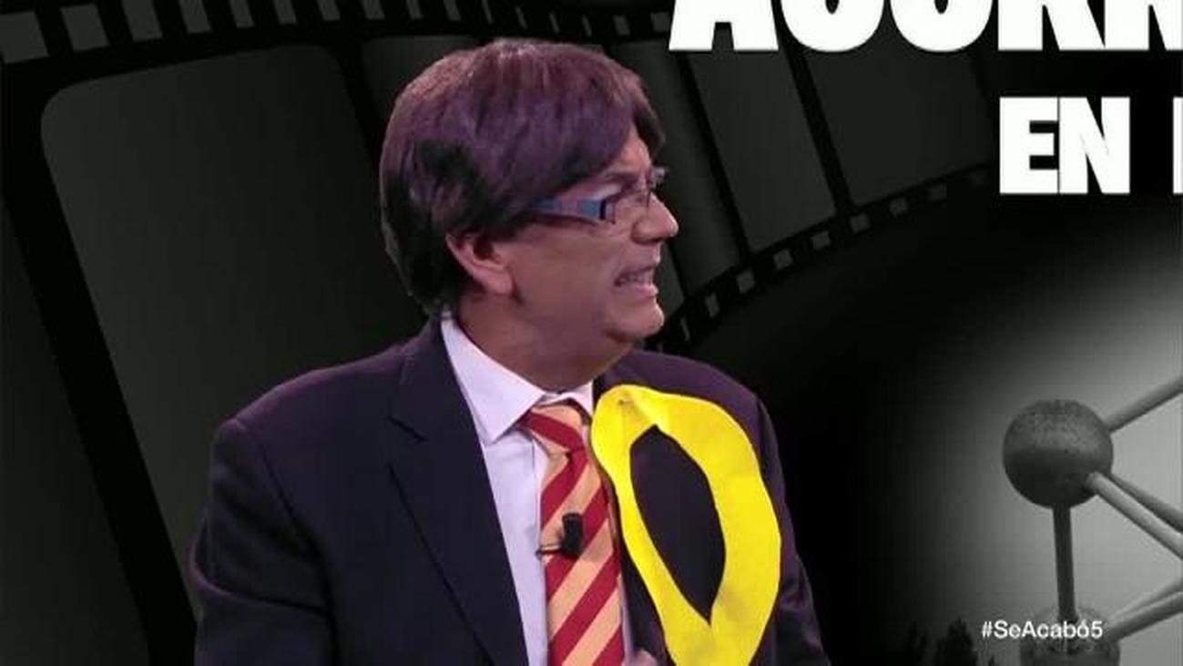 Puigdemont y Rambo estrenan 'Acorralados en Bruselas'