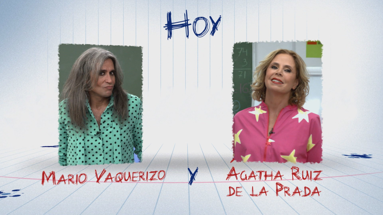 Ágatha Ruiz de la Prada y Mario Vaquerizo entran en la clase de  'Vuelta al cole'