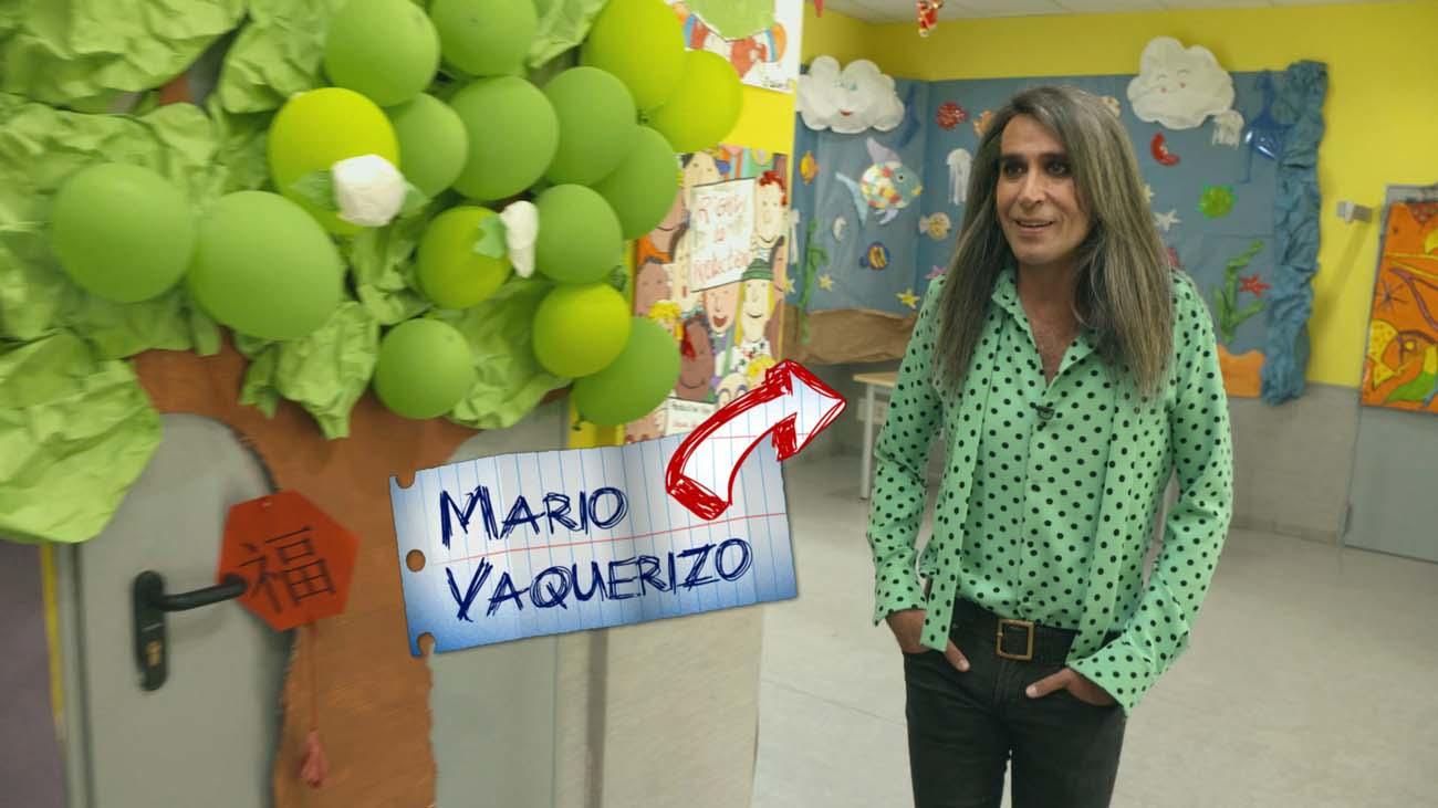 Mario Vaquerizo vuelve al cole