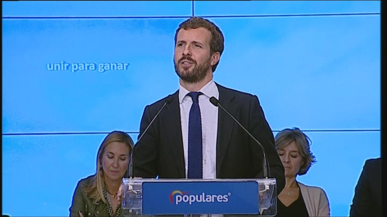"""Casado pide """"unir para ganar y ganar para gobernar y unir España"""""""
