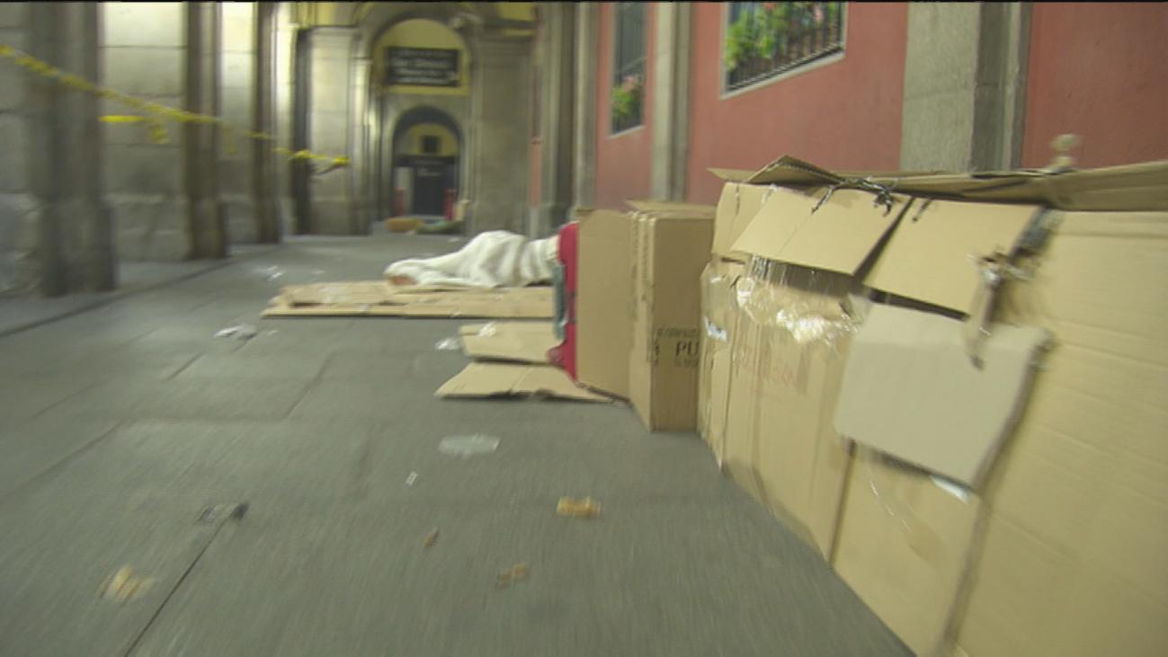 Empadronados en plena calle en Madrid