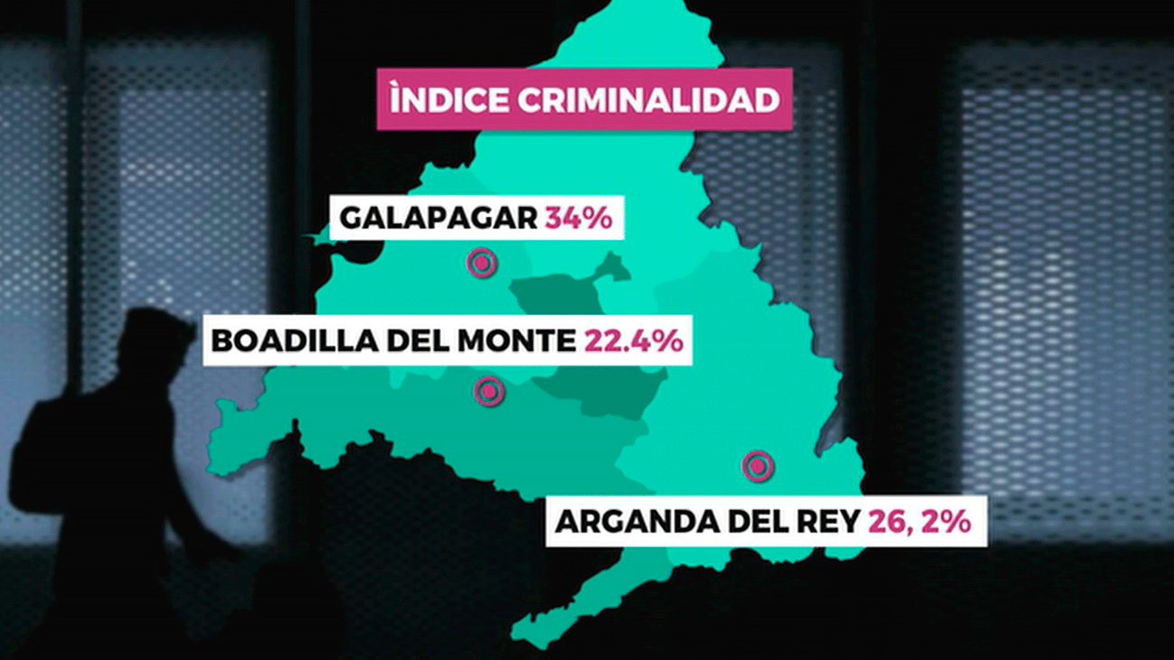 Los municipios con mayor criminalidad de Madrid