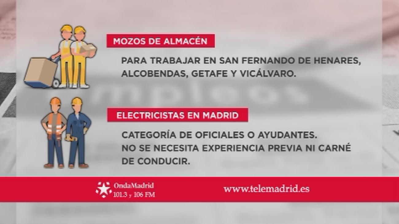 Se buscan mozos de almacén en Getafe, Alcobendas, Vicálvaro y San Fernando de Henares