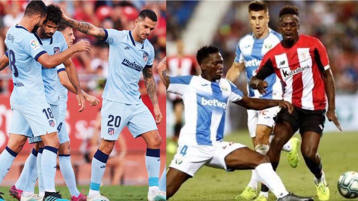 El Atlético gana al Mallorca (0-2) y el Leganés empata con el Athletic (1-1)