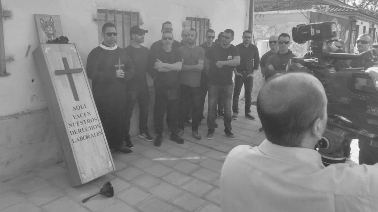 Protesta de los policías locales de Rivas