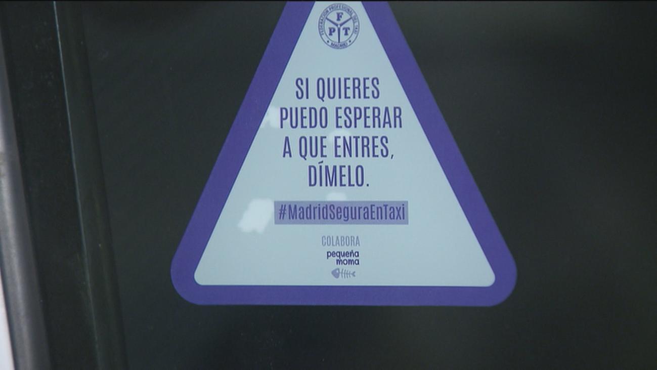 'Si quieres, puedo esperar a que entres. Dímelo', nueva iniciativa de los taxistas de Madrid