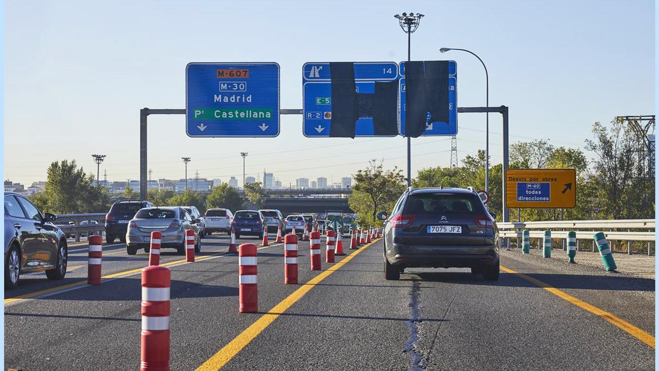 En busca de alternativas de transporte por las obras en el puente que une la M-607 con la M-40