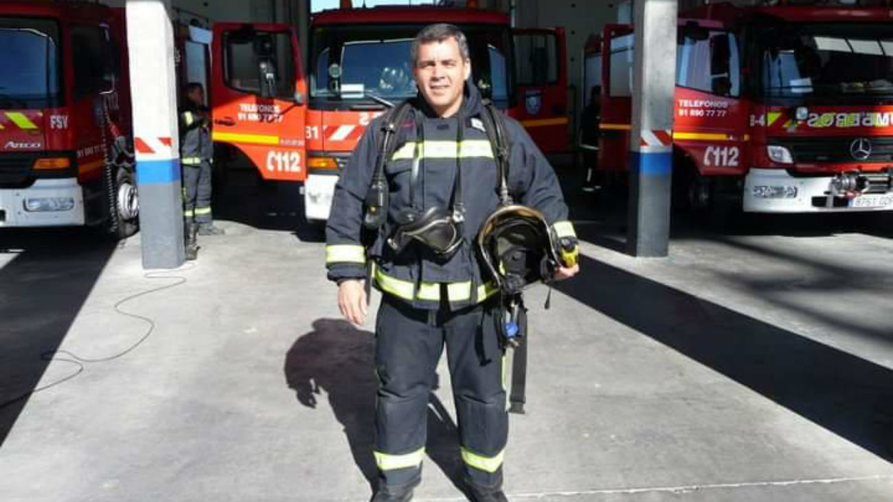Juan, bombero de Fuenlabrada
