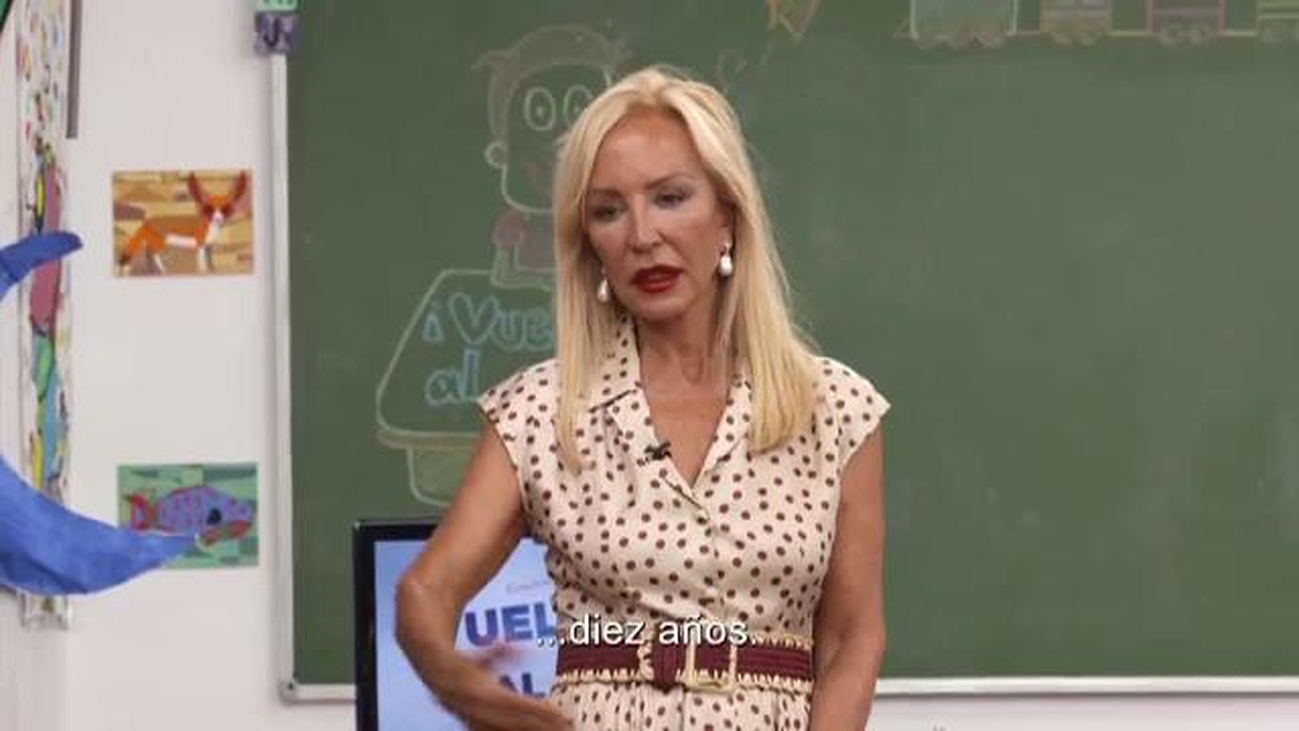 El nivel de inglés de Carmen Lomana sorprende a todos los alumnos