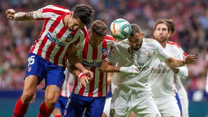 0-0. Atlético y Real Madrid empatan en un derbi intenso, pero sin brillo
